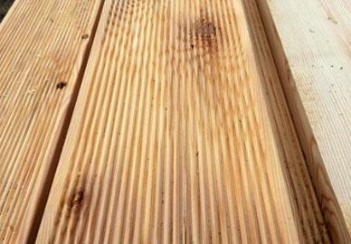 Доска террасная лиственница 28х140/120 мм сорт BC